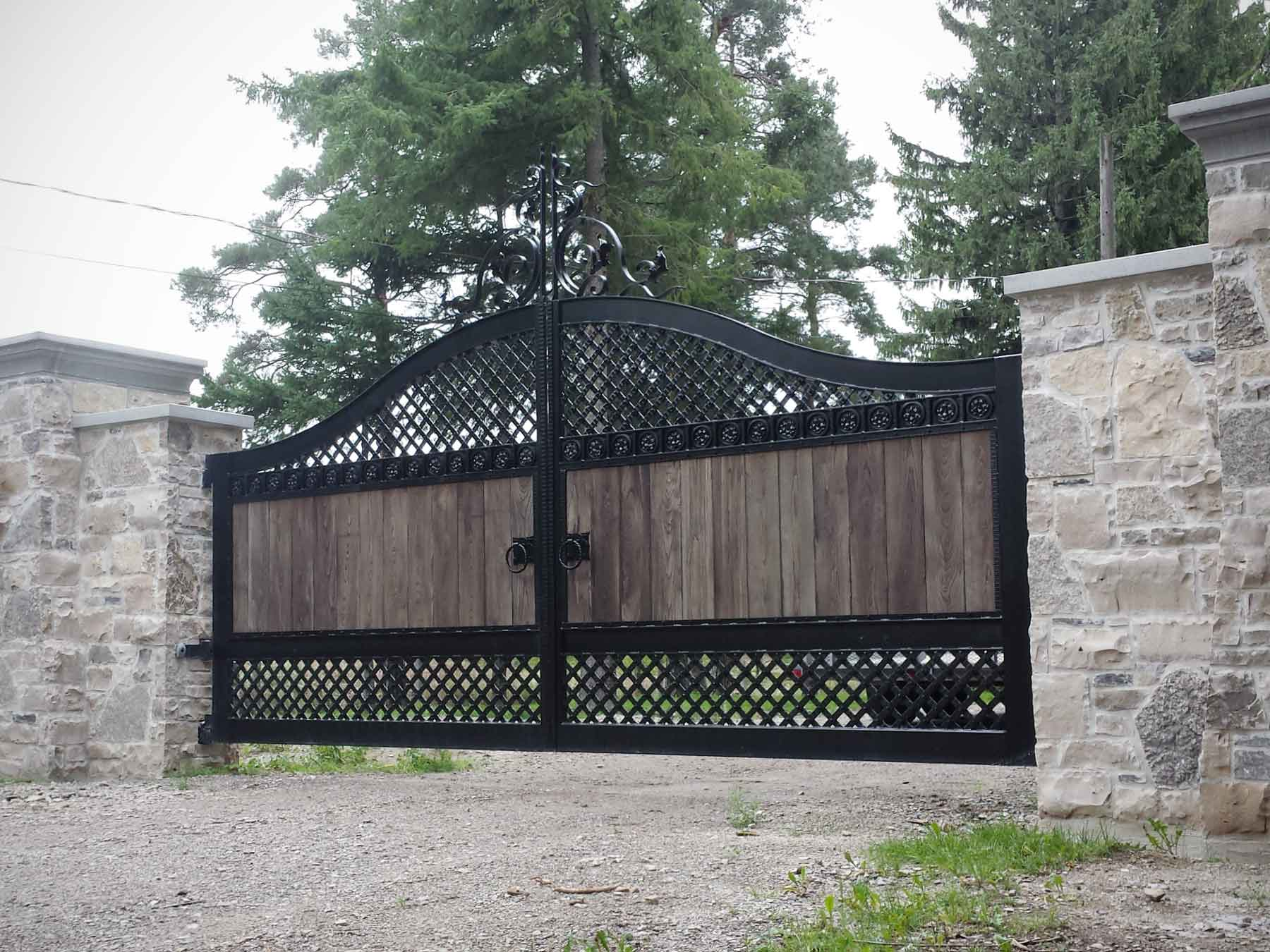 Custom Wood and Wrought Iron Gate